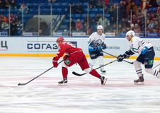 Maxim Afinogenov (61) in action Royalty Free Stock Photos