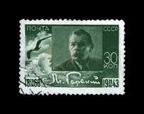 Maxim Gorky, Alexei Maximovich Peshkov (1868-1936), escritor famoso do russo, dramaturgo, político, URSS, cerca de 1943, Imagem de Stock