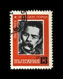 Maxim Gorky alias Alexei Maximovich Peshkov 1868-1936, berühmter russischer Verfasser, Dramatist, Politiker, Bulgarien, circa 196 Lizenzfreie Stockfotografie