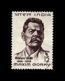 Maxim Gorky (1868-1936), berömd rysk författare, Indien, circa 1968, arkivbilder