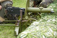Maxim gun. Old Powerful Military machine Gun - Maxim gun Royalty Free Stock Image