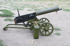 Maxim gun. With ammo box Royalty Free Stock Photos