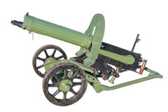 Maxim gun. Of the early twentieth century, isolated on a white background Stock Photo