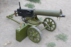 Maxim gun. Isolated on white Stock Photos