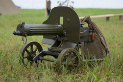 Maxim gun. Maxim machine gun. Weapons of World War II Royalty Free Stock Photos