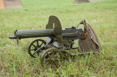 Maxim gun. Maxim machine gun. Weapons of World War II Royalty Free Stock Photo