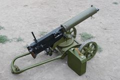 Maxim Gun. Old vintage Maxim Gun machinegun royalty free stock photography