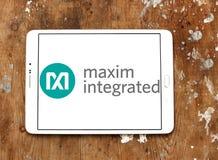 Maxim Integrated företagslogo Arkivbild