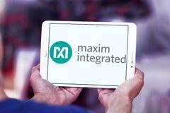 Maxim Integrated företagslogo Fotografering för Bildbyråer