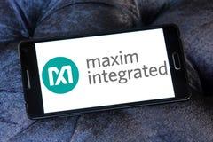 Maxim Integrated företagslogo Arkivbilder