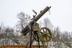 Maxim machine gun aboard a military machine Royalty Free Stock Images