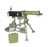 Maxim's machine gun on a tripod sighting Stock Images