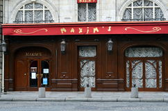 Maxim's - the most famous restaurant in Paris Royalty Free Stock Photography