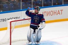 Maxim Sokolov (39) drink water Royalty Free Stock Photography