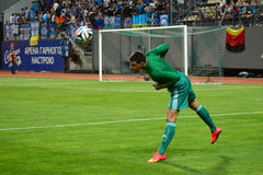 Maxim Startsev goalkeeper Royalty Free Stock Images