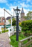The `Maxima` bridge in Marken, Netherlands stock image
