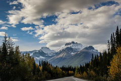 maxima för caucasus dombay bergberg royaltyfri fotografi