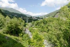 maxima för caucasus dombay bergberg Fotografering för Bildbyråer