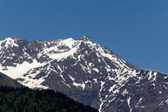 maxima för caucasus dombay bergberg Arkivfoton