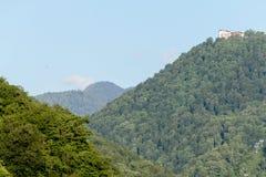 maxima för caucasus dombay bergberg Royaltyfri Foto