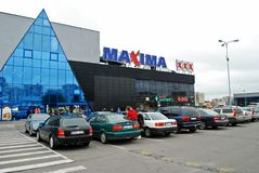 Maxima shop center in Vilnius city Ukmerges street Stock Photography