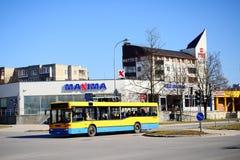 Maxima shop in Pasilaiciai district of Vilnius city Royalty Free Stock Photos