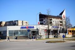 Maxima shop in Pasilaiciai district of Vilnius city Stock Image