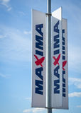 MAXIMA store sign Stock Images
