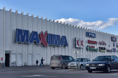 Maxima supermarket Stock Images