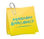 maximal effektivitetsstolpeillustration Arkivfoton