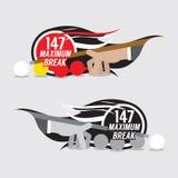 Maximal emblemdesign för avbrott 147 vektor illustrationer