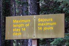 Maximal längd av staget 14 dagar tecken Fotografering för Bildbyråer