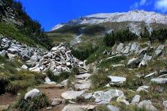Maximala Vihren, Pirin berg, Eastern Europe Arkivbild