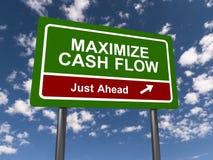 Maximaliseer Cash flowteken vector illustratie