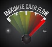 Maximaliseer de illustratieontwerp van het cash flowteken stock illustratie