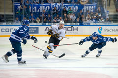 Maxime 81 de Trunov sur le match de hockey Photographie stock libre de droits