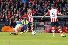 Maxime Lestienne PSV Eindhoven Royalty Free Stock Photos