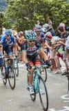 Maxime Monfort Climbing Alpe D'Huez Imagens de Stock Royalty Free