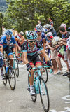 Maxime Monfort Wspina się Alpe d'Huez Obrazy Royalty Free