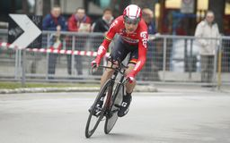 Maxime Montfort Team Lotto - Soudal Royalty Free Stock Images