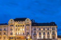 Maximilian fountain in Bratislava Stock Images
