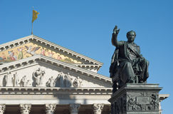 Maximilian Joseph and National Theater Royalty Free Stock Photos