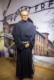 Maximilian Kolbe (Polish Conventual Franciscan friar) wax figure of Polonia Wax Museum at Main Market Square Stock Photo