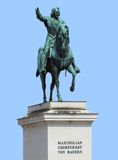 Maximilian statue in blue back Royalty Free Stock Photo
