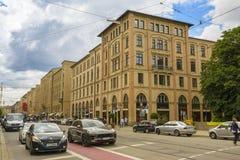 Maximilian street in Munich, Bavaria, Germany Royalty Free Stock Photos