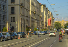 Maximilian street in Munich, Germany Royalty Free Stock Photos