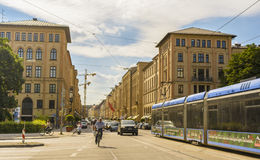 Maximilian street in Munich, Bavaria, Germany Stock Photo