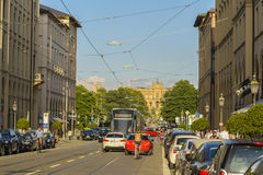 Maximilian street in Munich, Bavaria, Germany Stock Photography