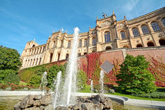Maximilianeum - Bavarian state parliament with fountain in Munich, Bavaria Germany Royalty Free Stock Photography