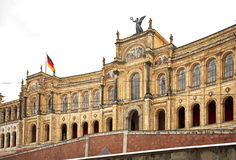 Maximilianeum building in Munich.  Royalty Free Stock Photos
